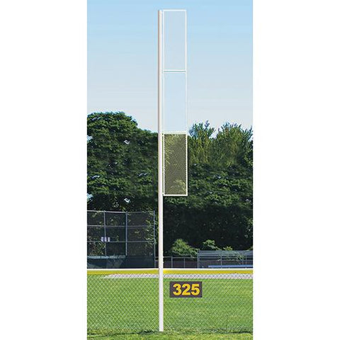 20' Collegiate Foul Pole (Baseball – Semi/Perm - White) Front View