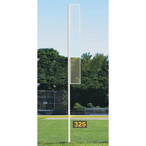 30' Collegiate Foul Pole (Baseball – Semi/Perm) White Front View