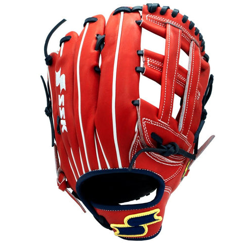 SSK Ikigai Acuña Red Navy Outfield Baseball Glove