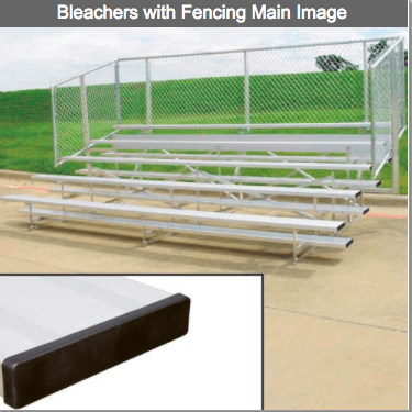 4 or 5 Row Aluminum Bleachers with Fencing - Pitch Pro Direct