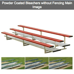 2-3 Row Powder Coated Aluminum Bleachers - Pitch Pro Direct