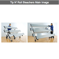 2-4 Row Portable Tip N' Roll Aluminum Bleachers