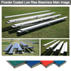 Image of 4 Row Powder Coated Low Rise Aluminum Bleachers - Pitch Pro Direct