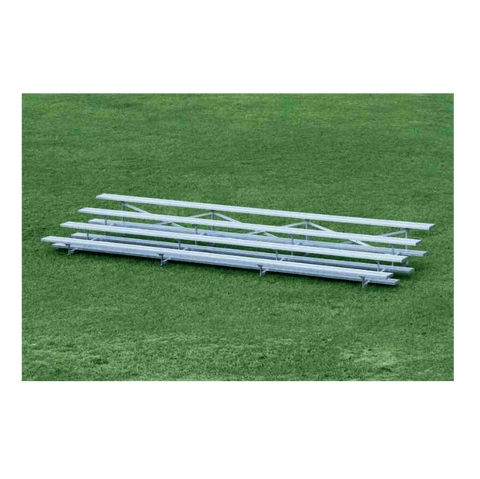 4 Row Low Rise Aluminum Bleachers - Pitch Pro Direct