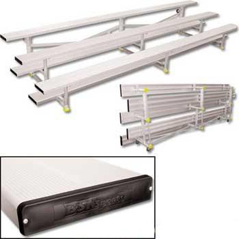 2-4 Row Portable Tip N' Roll Aluminum Bleachers - Pitch Pro Direct