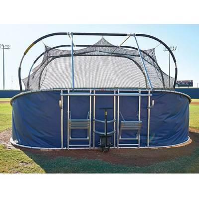 big bubba elite batting cage rear view