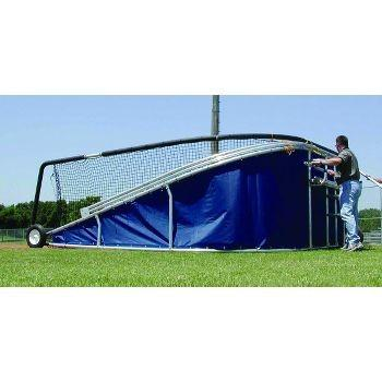 Big bubba pro backstop side view blue