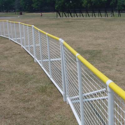 SportPanel Fencing White Panel with Yellow Safety Top - Pitch Pro Direct