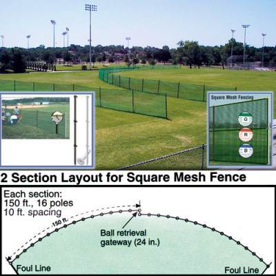Outfield Fencing 150' Roll - Pitch Pro Direct