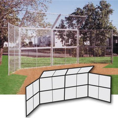 Chain Link Backstop 20' W/ Hood-No Wings - Pitch Pro Direct