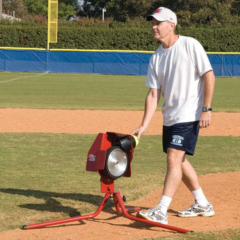 Bulldog Single Wheel Combo Pitching Machine For Baseball And Softball - Pitch Pro Direct
