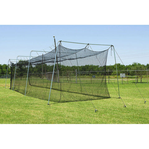 Cimarron Residential Backyard Batting Cage Side View