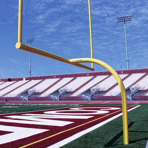 JayPro 20' Upright Collegiate MAX-1 Football Goal Post Leveling Plate - Pitch Pro Direct