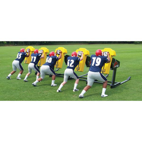 Fisher 6 Man Bull Football Blocking Sled - Pitch Pro Direct