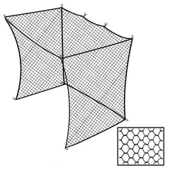 Cimarron 10x14x12 Golf Net Insert For Batting Cages Side View
