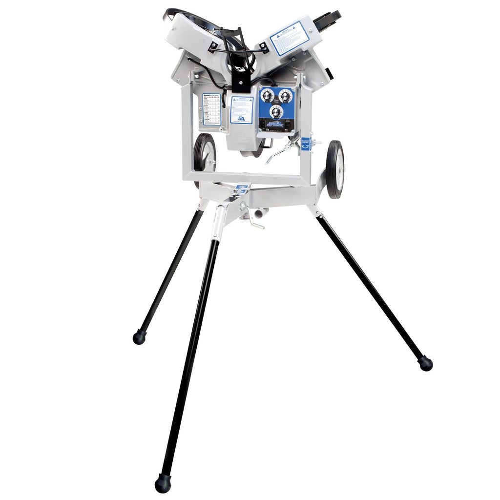 hack attack 3 wheel pitching machine for baseball or softball