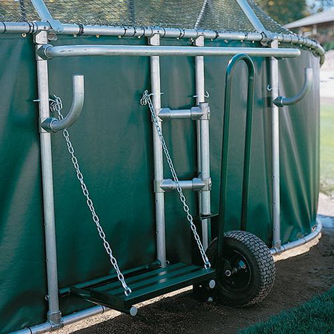JayPro grand slam portable batting cage rear view