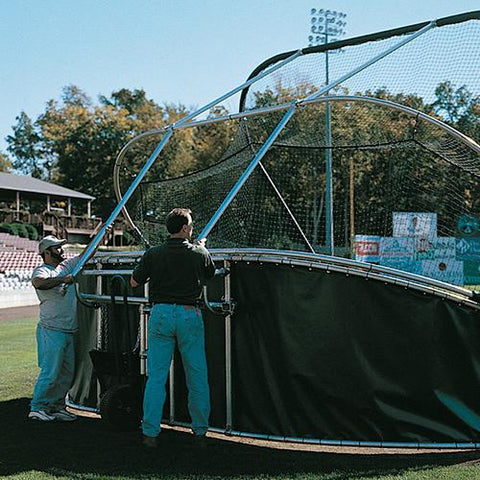 JayPro grand slam portable batting cage back view