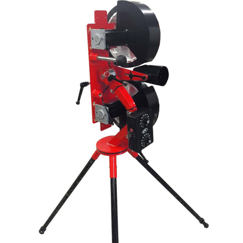 rawlings 2 wheel softball pitching machine rear view