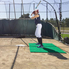 ProMounds 6' x 4' Green Stance Batting Mat Pro