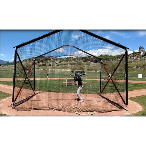BATCO Indoor and Outdoor Collapsible Home Plate Batting Cage - Pitch Pro Direct