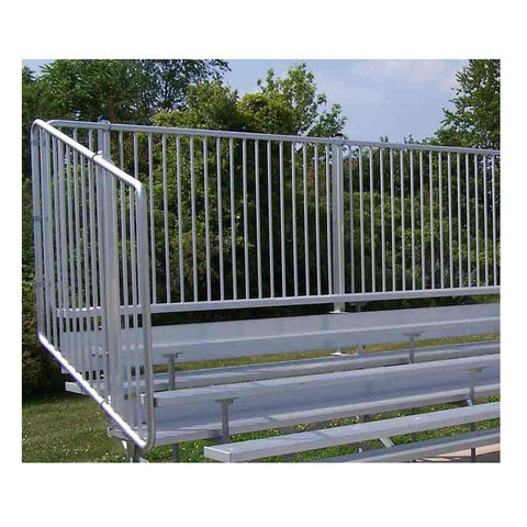 4 or 5 Rows Aluminum Bleachers with Safety Vertical Picket Railing - Pitch Pro Direct