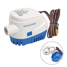 Amarine Made 12V 3.8A Automatic Submersible 1100GPH Boat Bilge Water Pump Auto with Float Switch