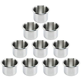 Amarine Made 10 Drop-in Stainless Steel Cup Holder,Fits Drink 2.2