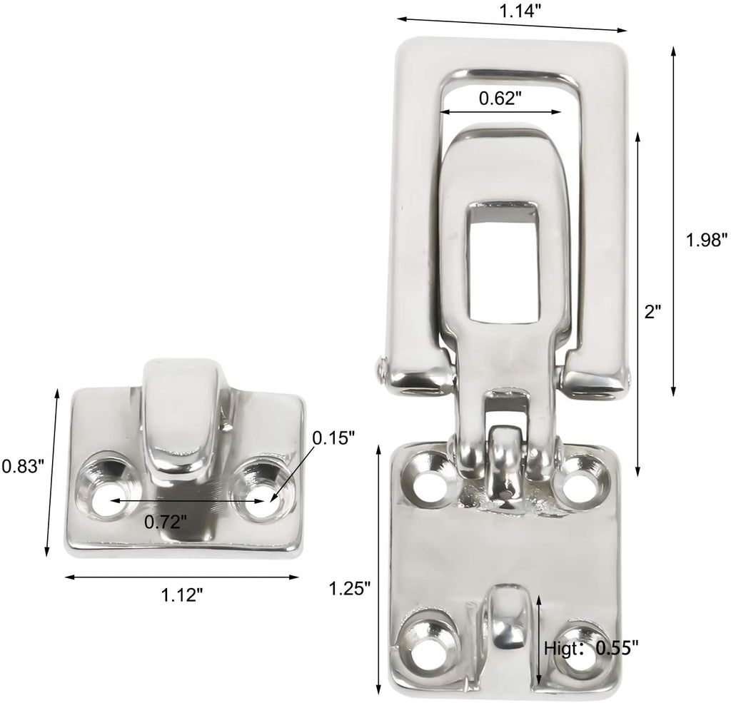 Amarine Made Stainless Steel Hold Down Clamp-Locking Cam Latch -Boat, Caravan