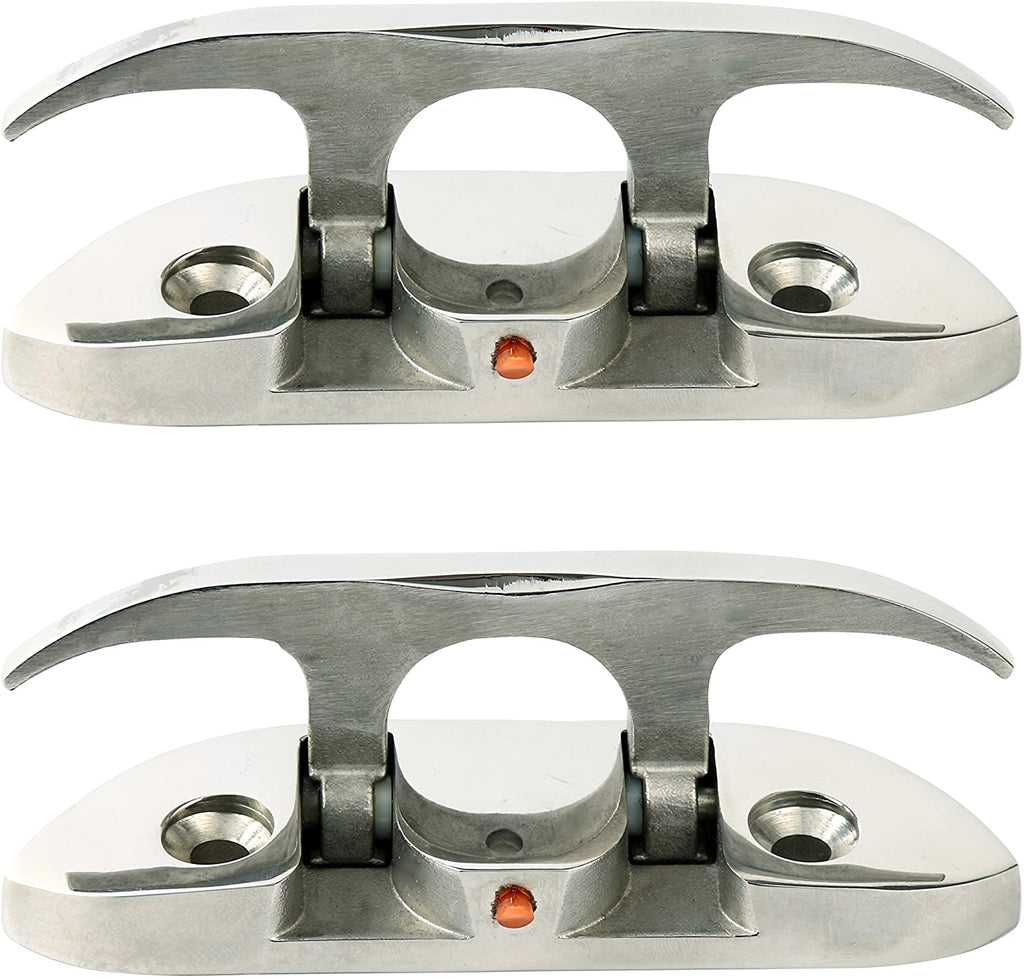 "Amarine Made 4-1/2"" Stainless Folding Cleat, Flip-up Dock Cleat"