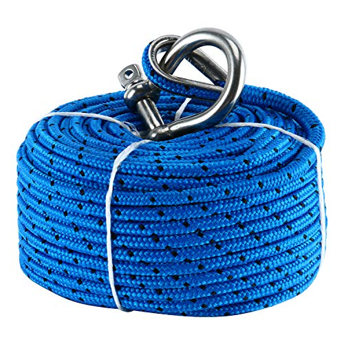 "Amarine Made Marine Boat Premium Anchor Rope for Electric Winches 3/16"" x 100'"