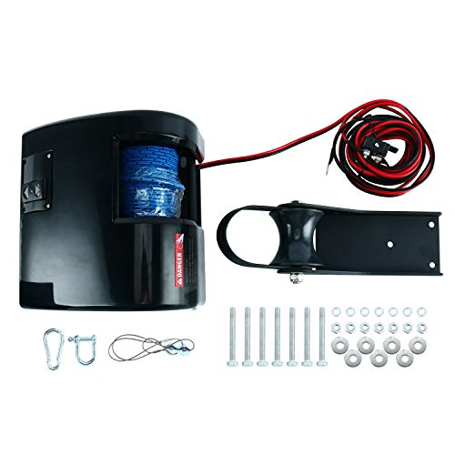 Amarine Made Marine Boat Electric Anchor Winch 100 ft Rope Salt Water Series for Anchor Up to 25lbs