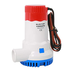 Amarine Made 1500GPH 12v Boat Marine Plumbing Electric Bilge Pumps-29mm ID Hose
