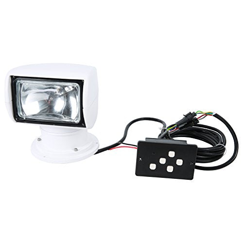 Amarine Made 12V 100W 3200K 2500LM Marine Boat Remote Control Spotlight Truck Car Searchlight