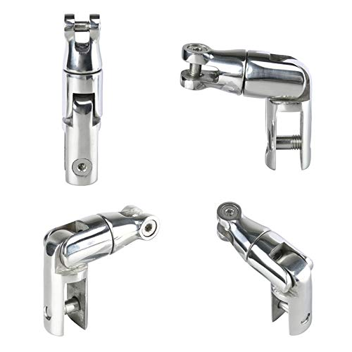 "Amarine Made AISI 316 Stainless Steel Marine Boat Anchor Double Swivel Connector for 3/8"", 1/2"" Chain"