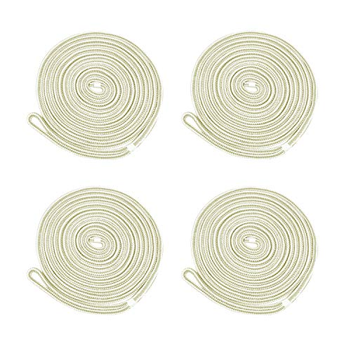 Amarine Made 4-Pack 3/8 Inch 15 FT Double Braid Nylon Dockline,Mooring Rope Double Braided Dock Line