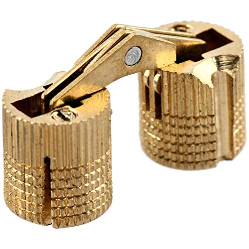 Amarine-made Pack of 24 Cylindrical 10mm Brass Barrel Invisible Furniture Hinge Concealed Hinge