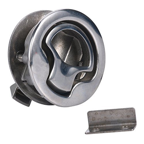 "Amarine Made Marine Boat Stainless Steel 2"" Flush Pull Hatch Latch -1304S"