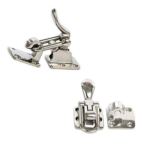 Amarine Made 2-Pack Stainless Steel Hold Down 90D Clamp-Locking Cam Latch -Boat, Caravan - 90 Degree