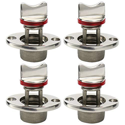Thread for 3//4 Amarine-made Oval Garboard Drain Plug Stainless Steel Boat Fits 1 Hole