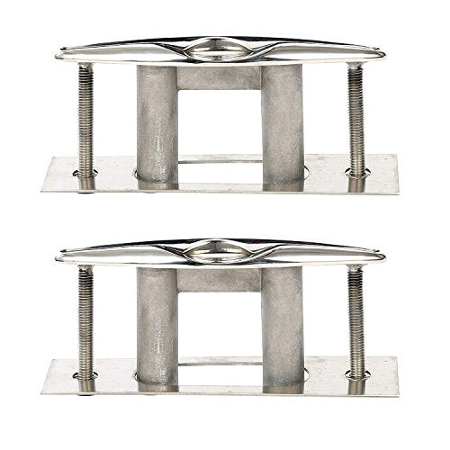 Amarine Made Pair of Boat Marine Stainless Steel 316 Pull up Cleat Flush Mount Cleat Lift