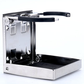 Amarine Made Stainless Steel Adjustable Folding Drink Holder Cup Holder Marine/Boat/Caravan/car