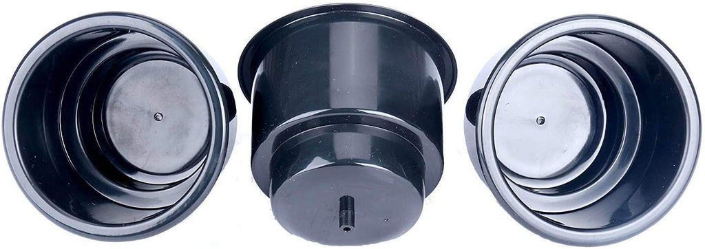 Amarine Made Recessed Plastic Cup Drink Can Holder with Drain Hole for Boat Truck Car Table Black