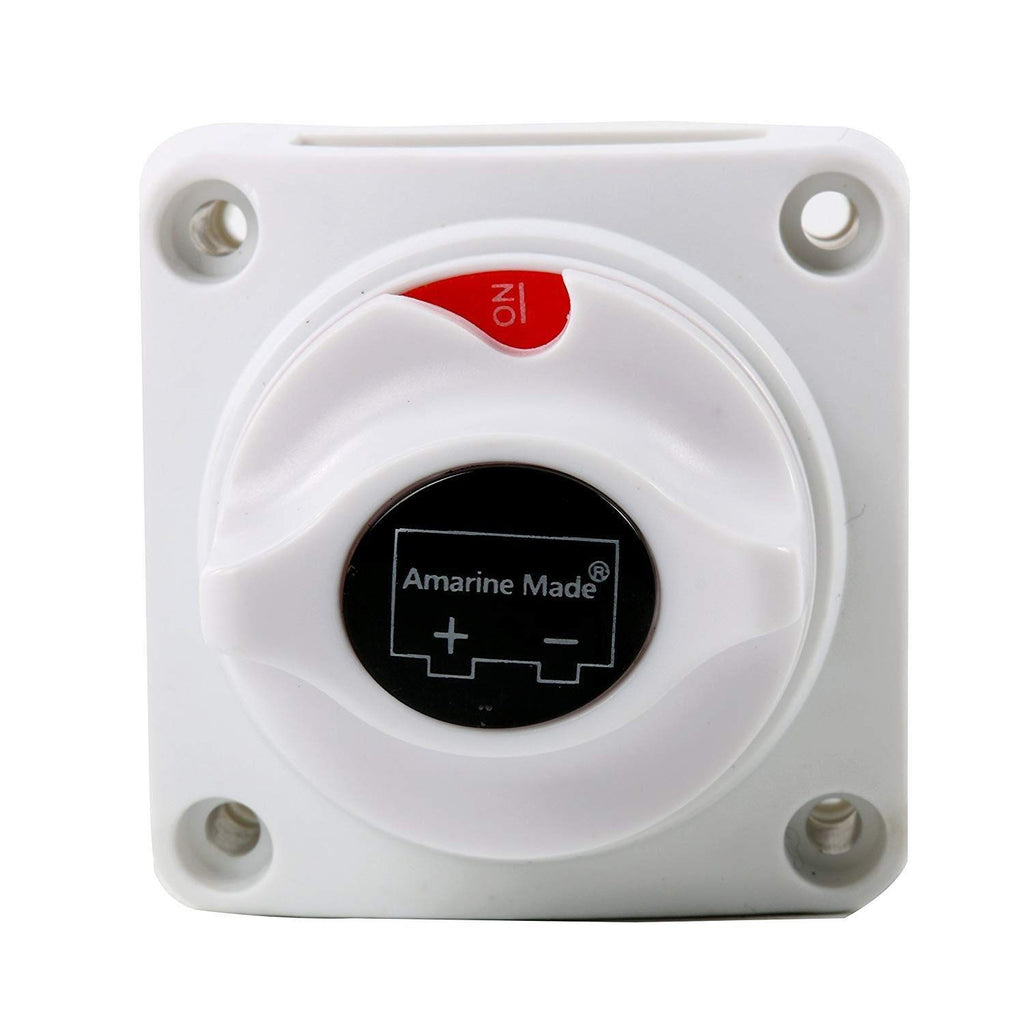 Amarine Made Boat Battery Power Disconnect Switch, Heavy Duty Battery Isolator Switch (275-201)