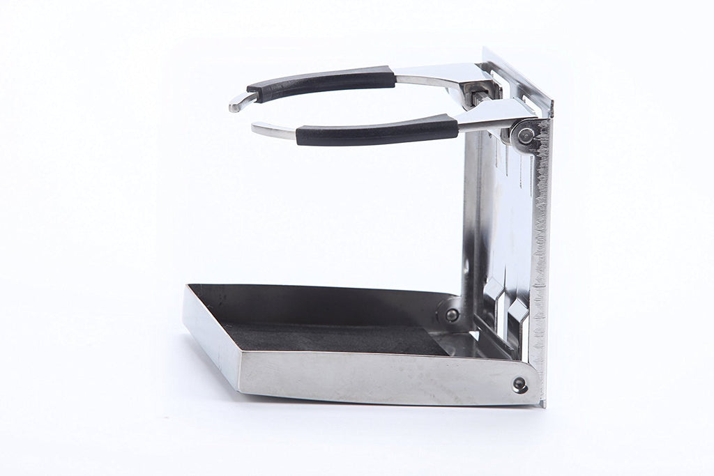 Amarine Made Pair of Bigger Stainless Steel Adjustable Folding Drink Holders