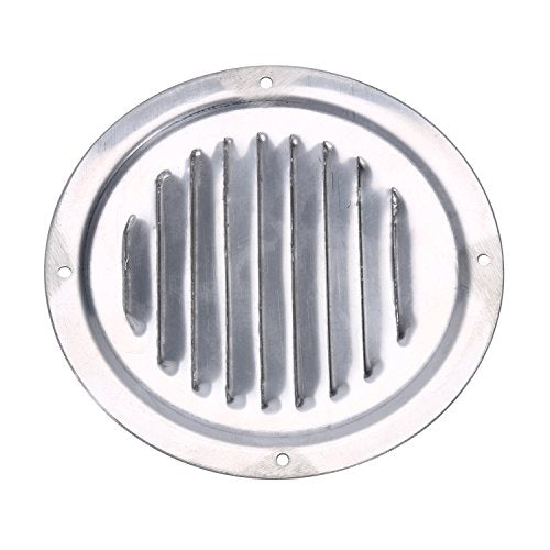 Amarine Made Stainless Steel 5 Inch Marine Boat Engine Louvered Style Vent Cover