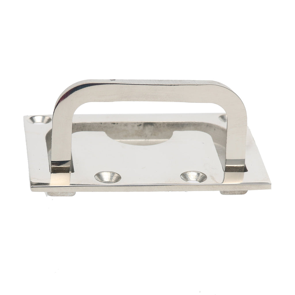 Amarine Made 316 Stainless Steel Boat Hatch Square Pull Handle Marine Flush Lifting Handle