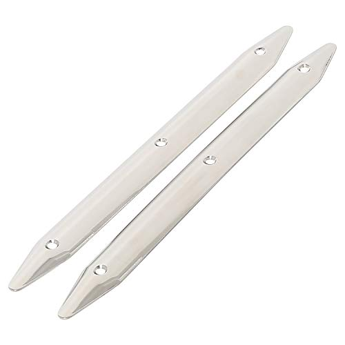 Amarine Made 2-Pack 316 Stainless Steel Rub Strake,Line Rub Strakes for Marine Boat Yacht RV