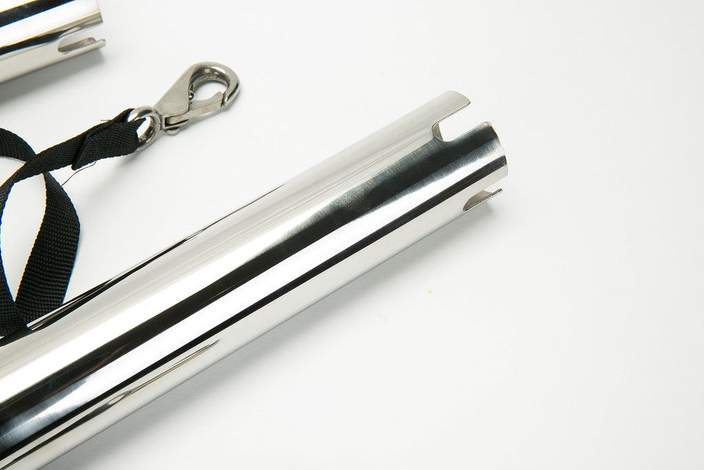 Amarine Made (Set of 2) Silver Highly Polished Stainless Steel Outrigger Stylish Rod Holder