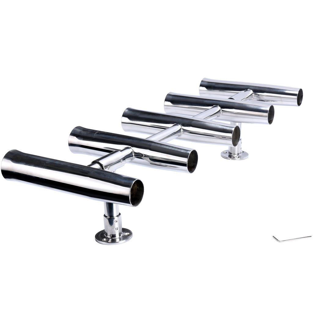 Amarine Made 5 Tube Adjustable Stainless Rocket Launcher Rod Holders